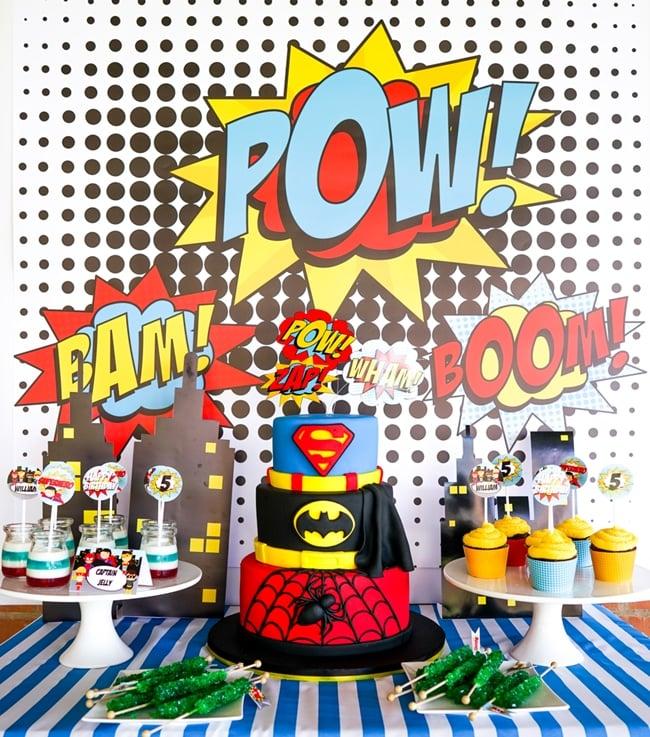 Most popular kids party themes: Boys Superhero Party