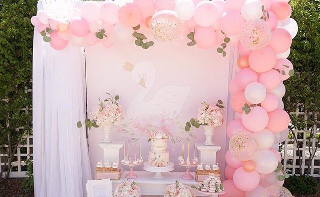 Pretty Swan Themed Birthday Party