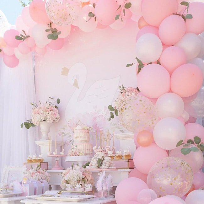 Pretty Swan Themed Birthday Party featured on Pretty My Party