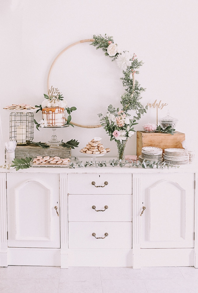 Love You To The Moon and Back Baby Shower Dessert Table featured on Pretty My Party