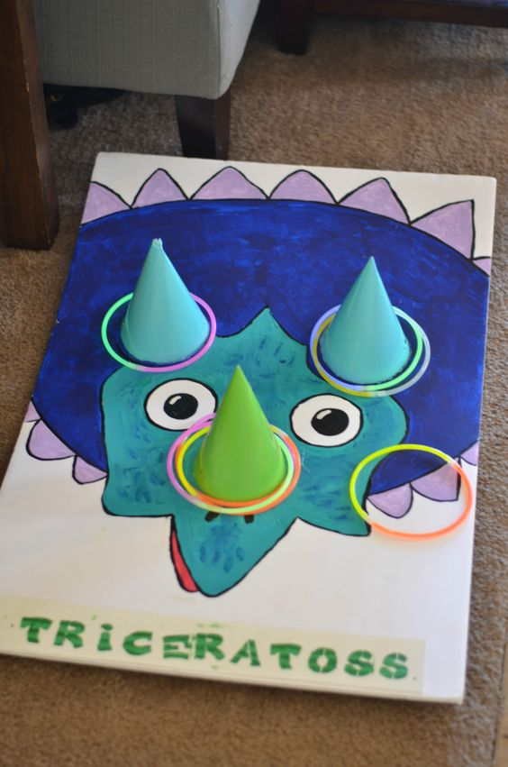Triceratoss Party Game | Dinosaur Birthday Party Ideas