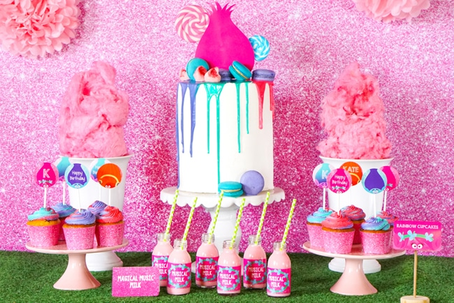 Most popular kids party themes: Trolls Party
