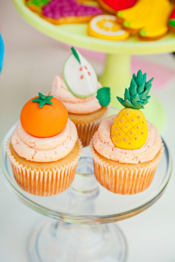 Tutti Frutti Cupcakes | Tutti Frutti Party Ideas