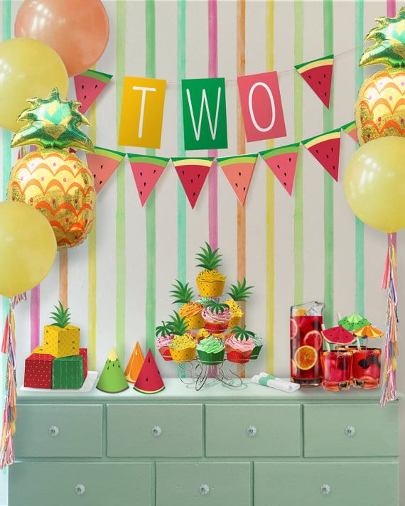 Tutti Frutti Dessert Table | Tutti Frutti Party Ideas
