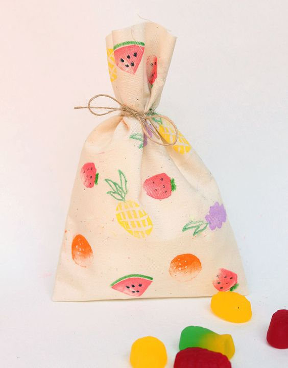 Tutti Frutti Favor Bags | Tutti Frutti Party Ideas