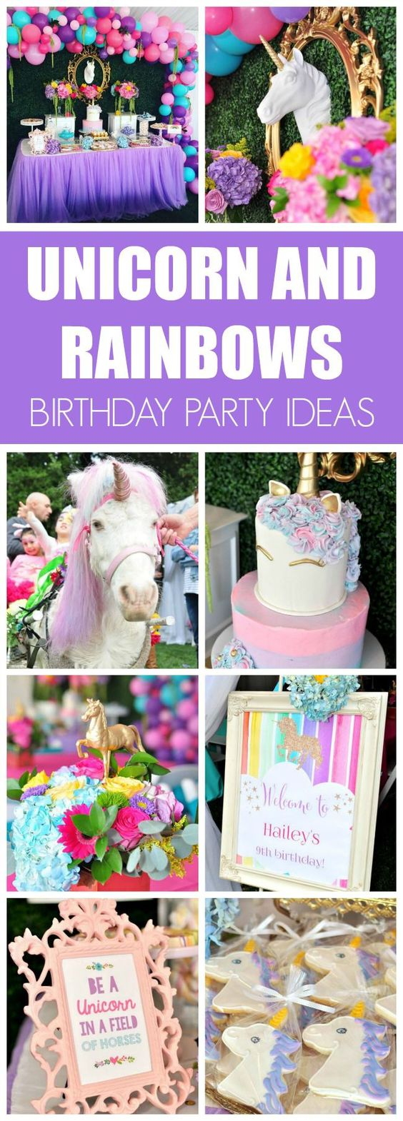Unicorn and Rainbows Birthday Party - Pretty My Party