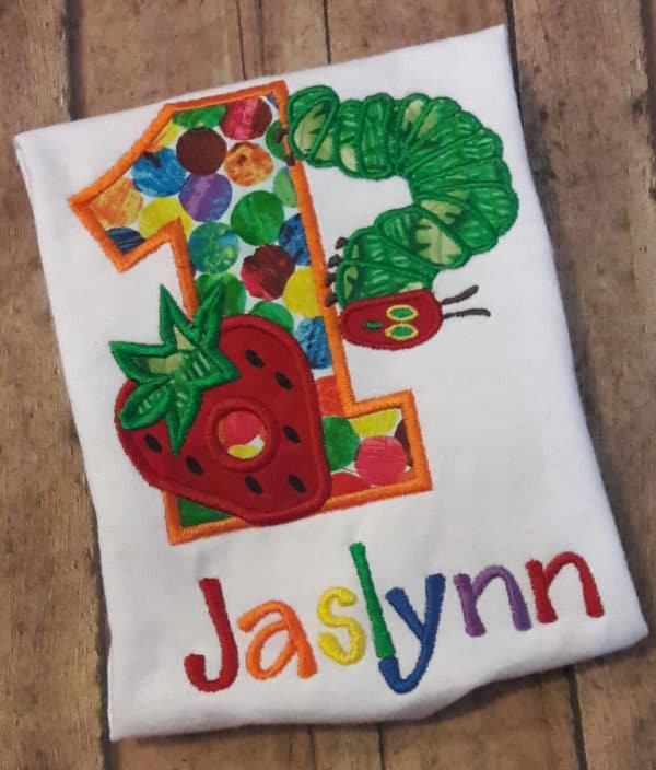 Very Hungry Caterpillar Birthday Shirt | Very Hungry Caterpillar Party Ideas