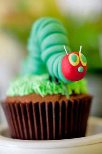 Very Hungry Caterpillar Cupcake | Very Hungry Caterpillar Party Ideas