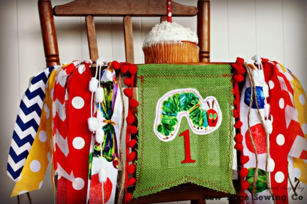 Very Hungry Caterpillar Highchair Banner | Very Hungry Caterpillar Party Ideas