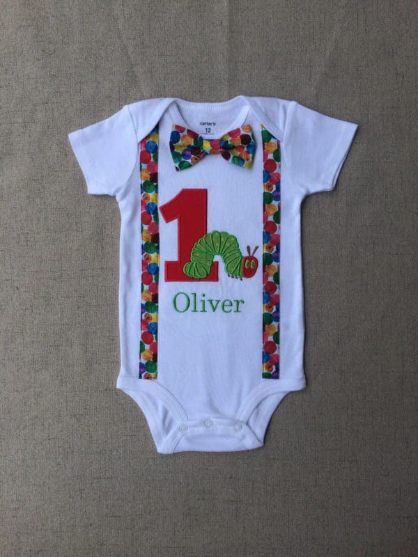 Very Hungry Caterpillar Onesie | Very Hungry Caterpillar Party Ideas