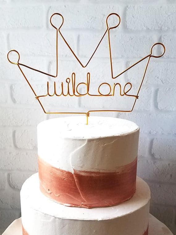 Wild One Cake Topper - Wild One Birthday Ideas