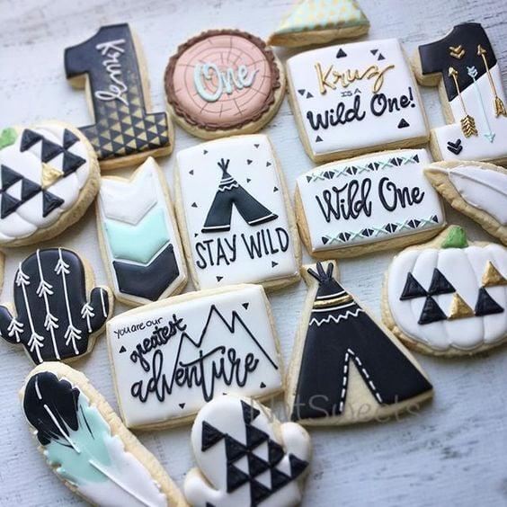 Wild One Cookies - Boys Wild One Birthday Ideas