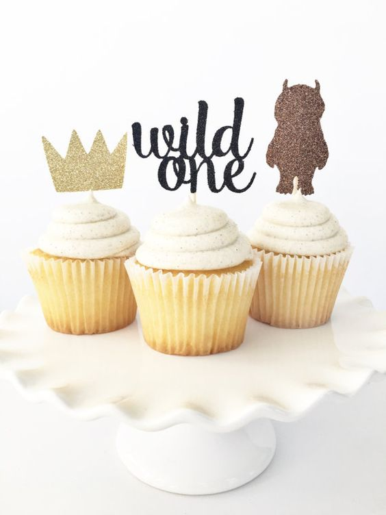 Wild One Cupcake Toppers - Wild One 1st Birthday