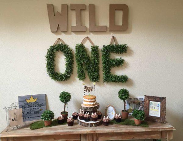 Wild One Dessert Table - Boys Wild One Birthday Ideas