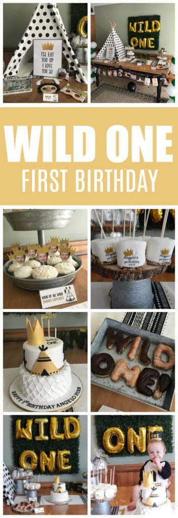 Adorable Wild One First Birthday Party featured on Pretty My Party