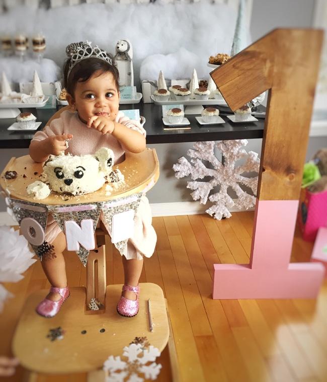 Winter Wonderland Party Smash Cake