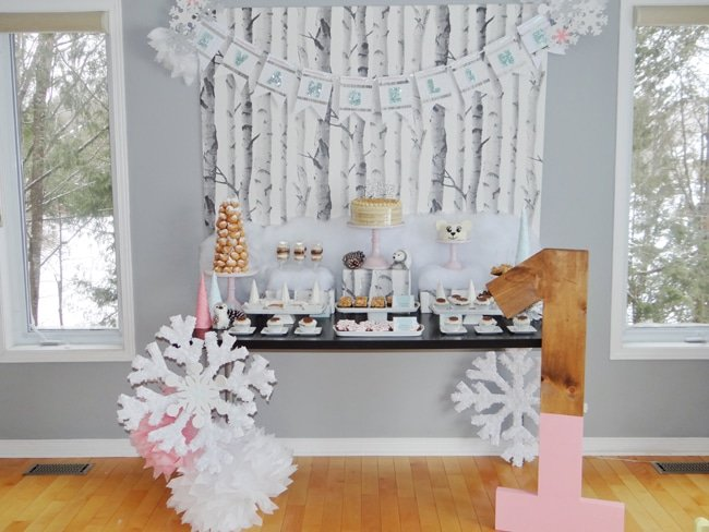 Whimsical Winter Wonderland Themed Party