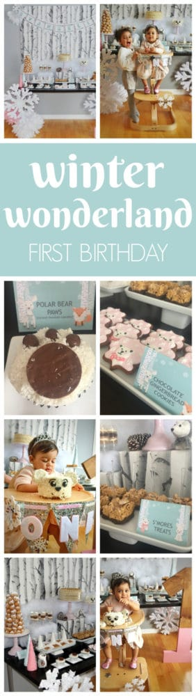 Whimsical Winter Wonderland Themed Party featured on Pretty My Party