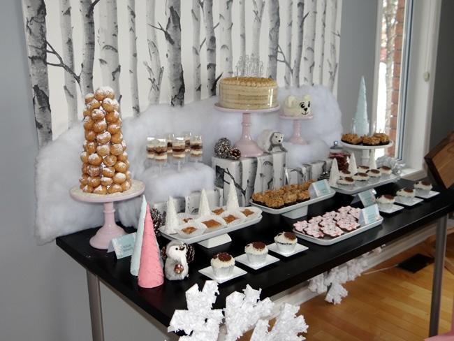 Winter Wonderland Party Desserts