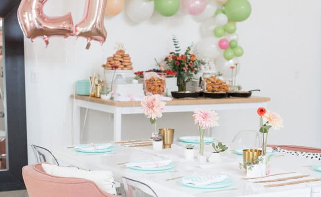 Cactus Garden Themed 21st Birthday Party