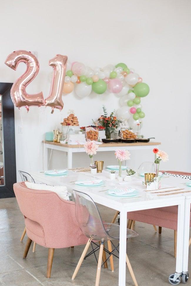 Cactus Garden Themed 21st Birthday Party