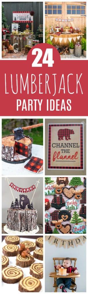 24 Lumberjack Themed Birthday Party Ideas on Pretty My Party