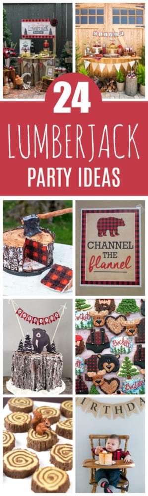 24 Lumberjack Themed Birthday Party Ideas on Pretty My Party