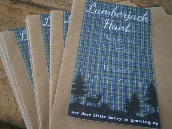 Lumberjack Scavenger Hunt | Lumberjack Party Ideas