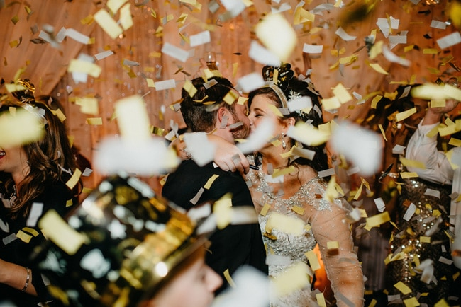 Sparkly New Year's Eve Wedding Celebration on Pretty My Party