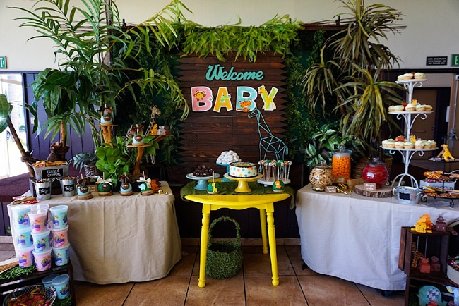 Animal Safari Themed Baby Shower Dessert Table