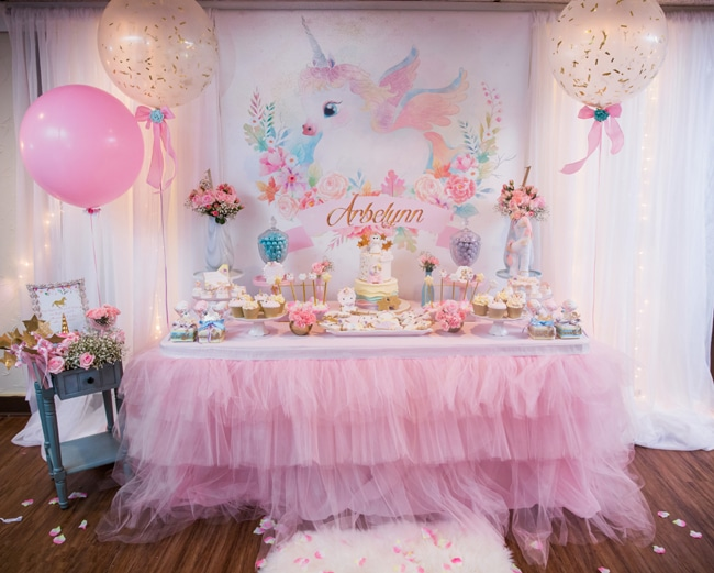 Baby Unicorn Themed First Birthday Party , Pretty My Party