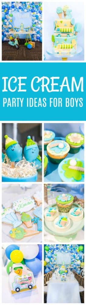 Boys Ice Cream Themed Birthday Party featured on Pretty My Party