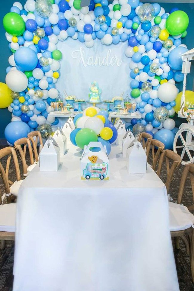 Boys Ice Cream Birthday Party Ideas