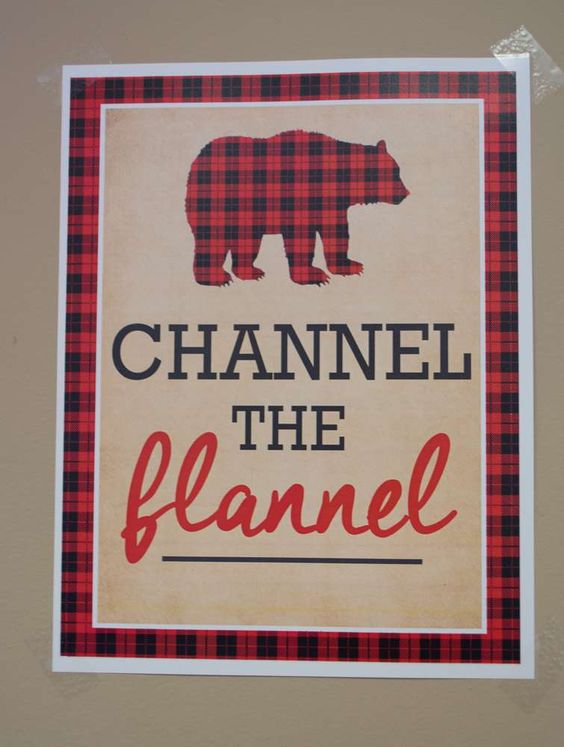 Channel the Flannel Party Sign | Lumberjack Party Ideas