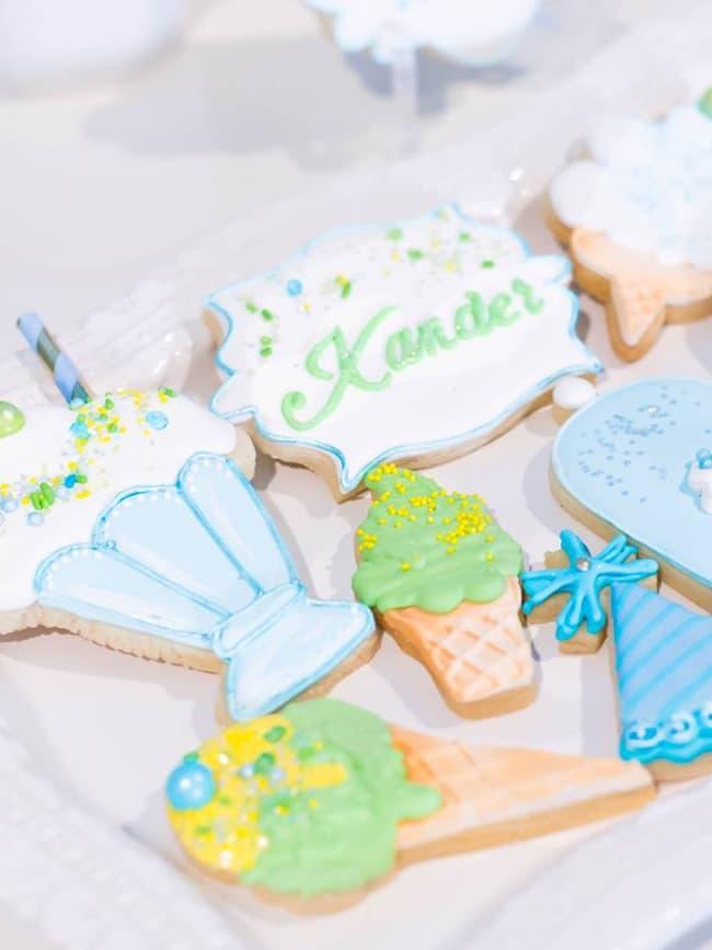 Boys Ice Cream Party Cookies
