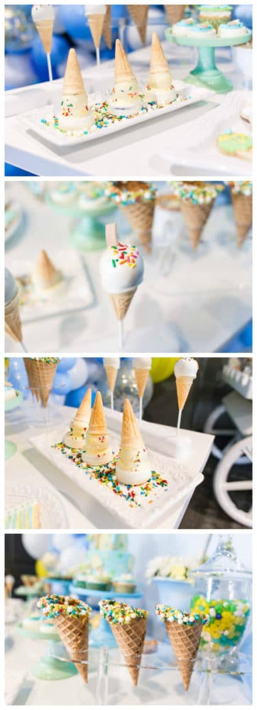Boys Ice Cream Party Desserts