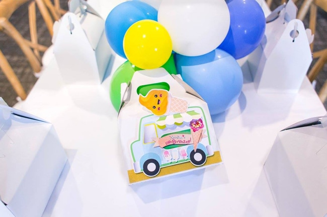 Boys Ice Cream Birthday Party Favors