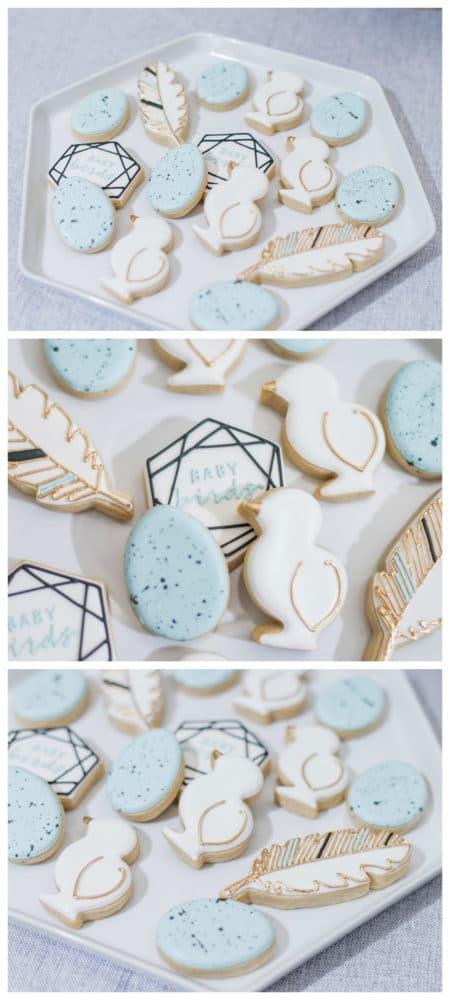 Little Bird Themed Baby Shower Cookies