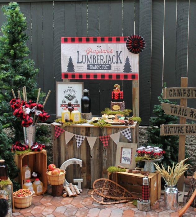 Little Lumberjack 3rd Birthday Party | Lumberjack Party Ideas