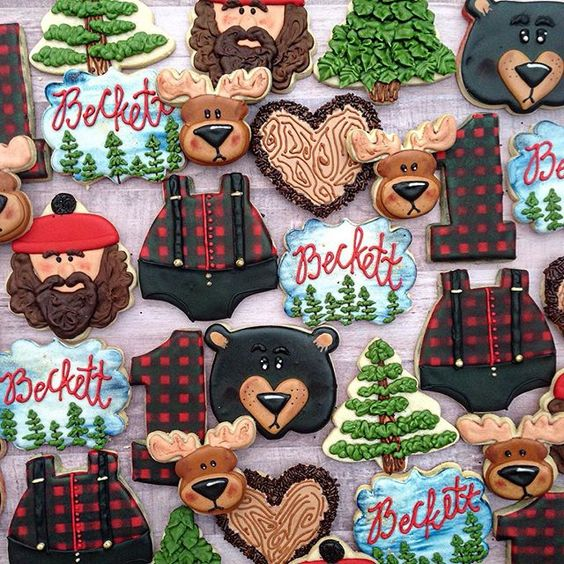 Lumberjack Party Cookies | Lumberjack Party Ideas