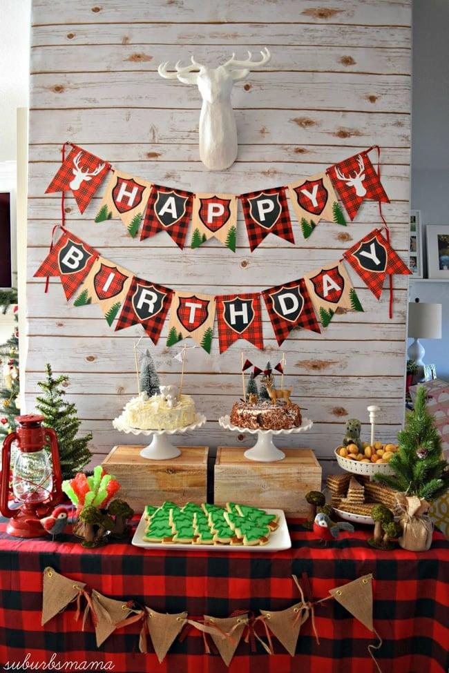 Lumberjack Party Dessert Table | Lumberjack Party Ideas