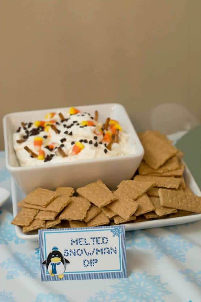 Melted Snowman Dip | Winter Wonderland Party Ideas