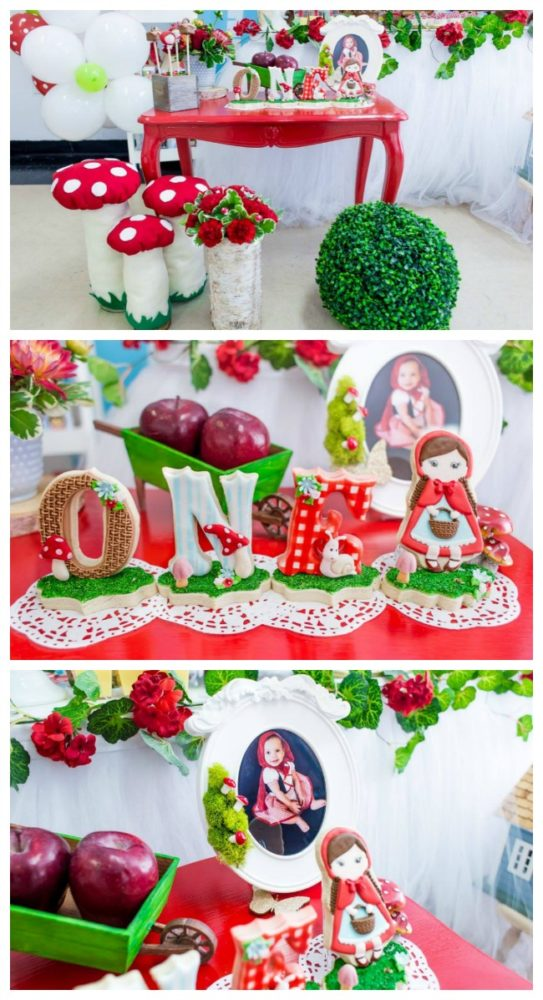 Adorable Little Red Riding Hood Birthday Party - Pretty My ...