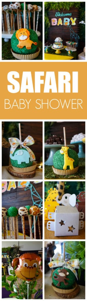 Animal Safari Themed Baby Shower on Pretty My Party