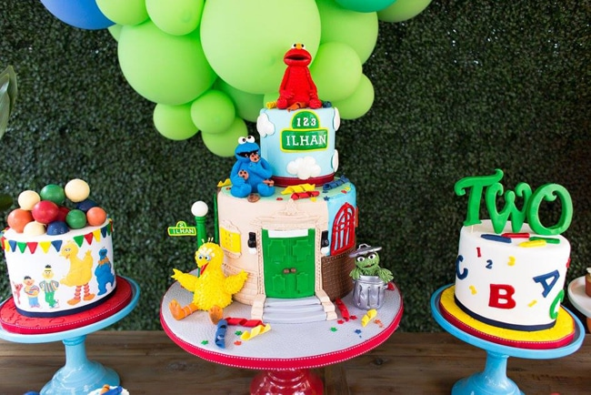 Colorful Sesame Street Themed Birthday Party Pretty My Party Party Ideas