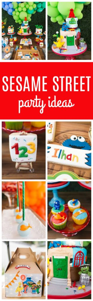 Colorful Sesame Street Themed Birthday Party on Pretty My Party