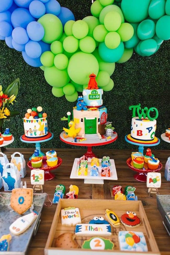 Sesame Street Party Dessert Table