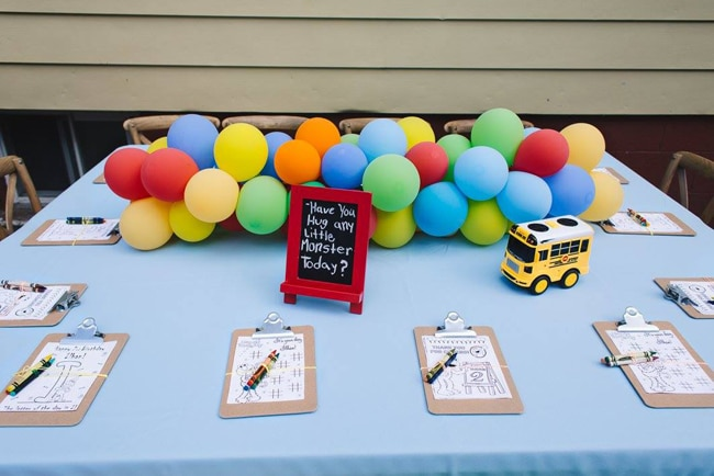Colorful Sesame Street Themed Birthday
