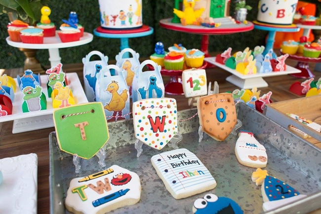 Colorful Sesame Street Themed Birthday Party Pretty My Party