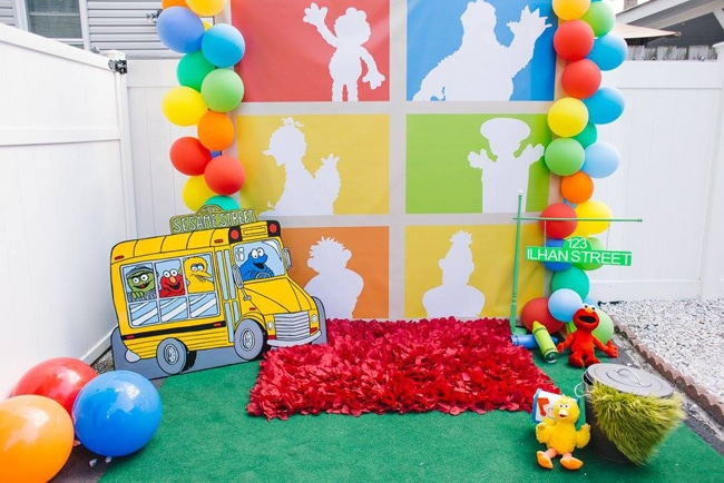 Sesame Street Party Photo Booth